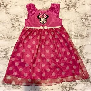 Disney Minnie Mouse Fantasy Nightgown Pink Size 3T